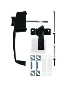 Black Steel Push Button Latch with Handle Replacement kit