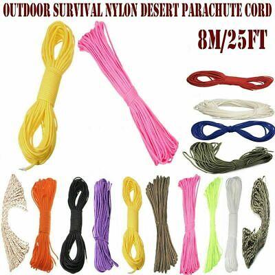8M 9 Strands Glow Luminous Parachute Paracord Outdoor Camping Lanyard Ropes