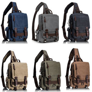e2121d0b31 Leaper Canvas Message Sling Bag Outdoor Cross Body Bag Messenger ...