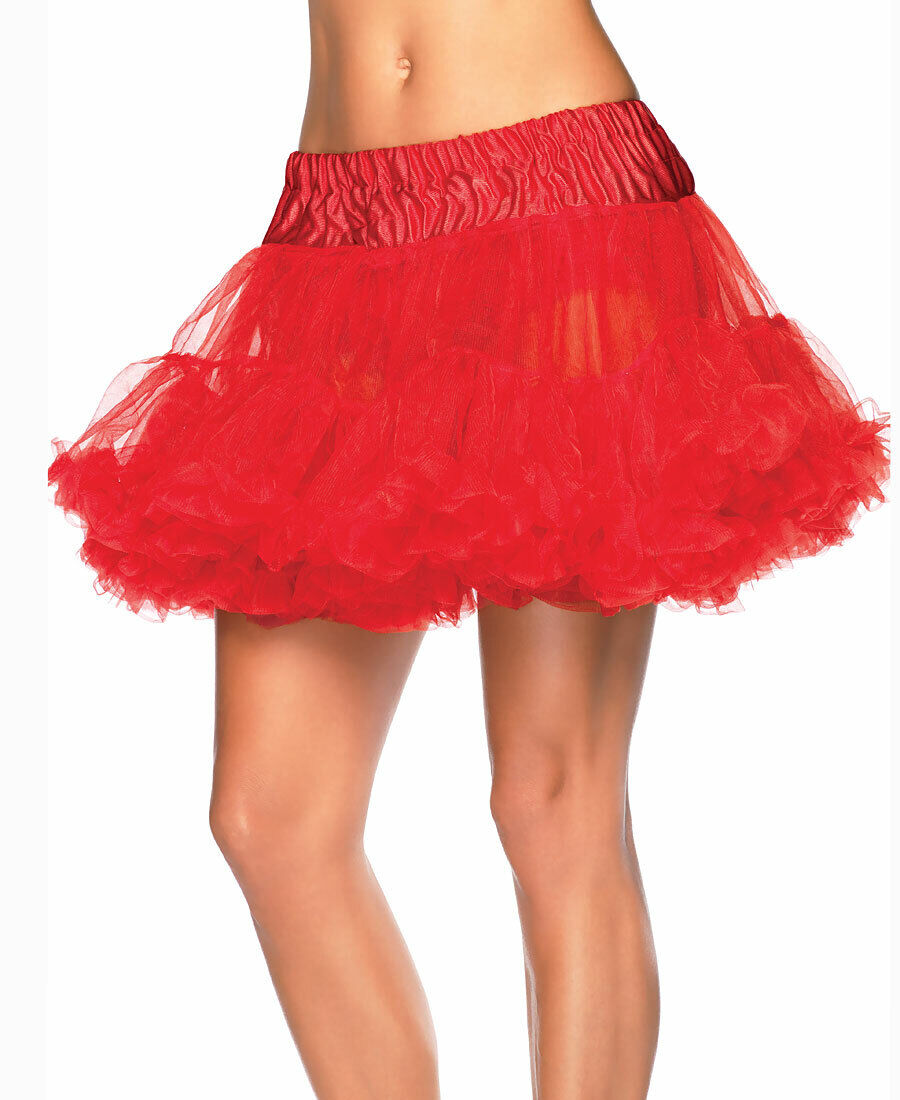 New Leg Avenue 8990 Red Layered Soft Tulle Petticoat Skirt