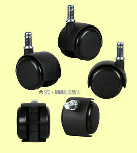15 office chair casters soft roll rubber wheel 138