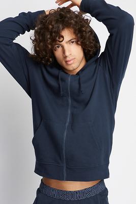 Bonds Mens Besties Zip Up Hoodie Jacket Jumper size Small Colour Blue