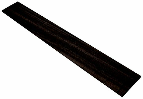 Ebony Fingerboard - 25.5  Scale, 12  Radius - for Fender Style Electric Guitar