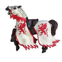 Papo Red Dragon King's Horse Medieval Figure 39388