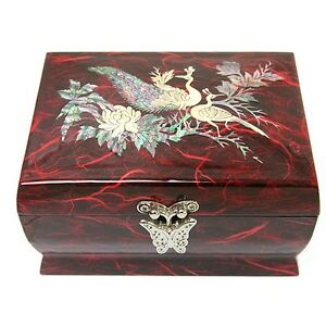 Korea Antique Jewelry Box Mother of Pearl Jewelry Box Music Jewelry