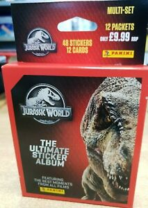 Panini-Jurassic-World-Ultmiate-Collection-Blister-Multipack-12-packets-stickers