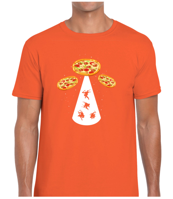 UFO PIZZA MENS T SHIRT TEE FUNNY COOL ALIEN FOOD LOVER DESIGN SPACESHIP JOKE TOP