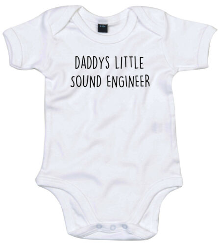 SOUND ENGINEER BODY SUIT PERSONALISED DADDYS LITTLE BABY GROW GIFT