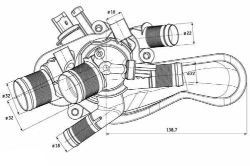 Peugeot Rcz 2010-2016 OEM Thermostat /& Housing Coolant System Replacement