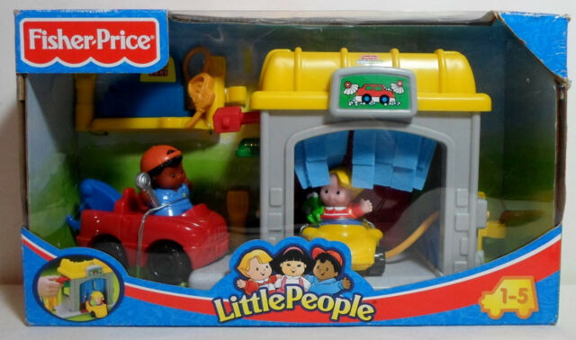 Fisher Price 2006 Little People Garage Carwash Set European Boxed Misb Sealed For Sale Online