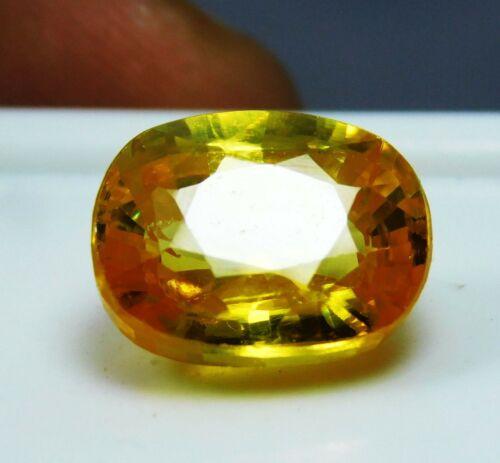9.5 Cts Natural Beautiful Ceylon Oval Cut Yellow Sapphire Loose Gems bn