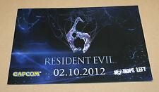 Resident Evil 6 German Press Kit File Sheet Ad Flyer Promo Rare
