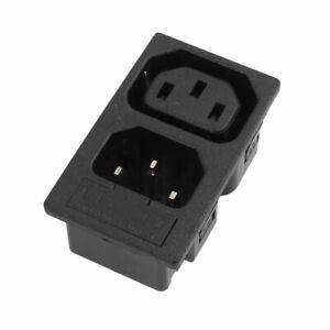 10A-AC-250V-Inlet-Male-And-Female-Power-Socket-with-Fuse-Switch-3-Pin-IEC320-C14