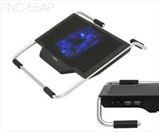Laptop Cooling Pad USB Blue LED Fan Light Notebook Cooler Stand with ARM Support