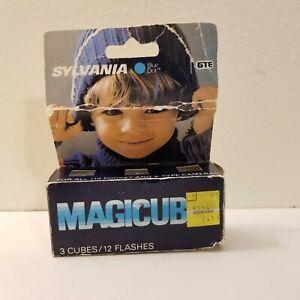 Sylvania Blue Dot Magicubes Flash Cubes 110 X-Type Camera 12 Flashes 3 Cubes New