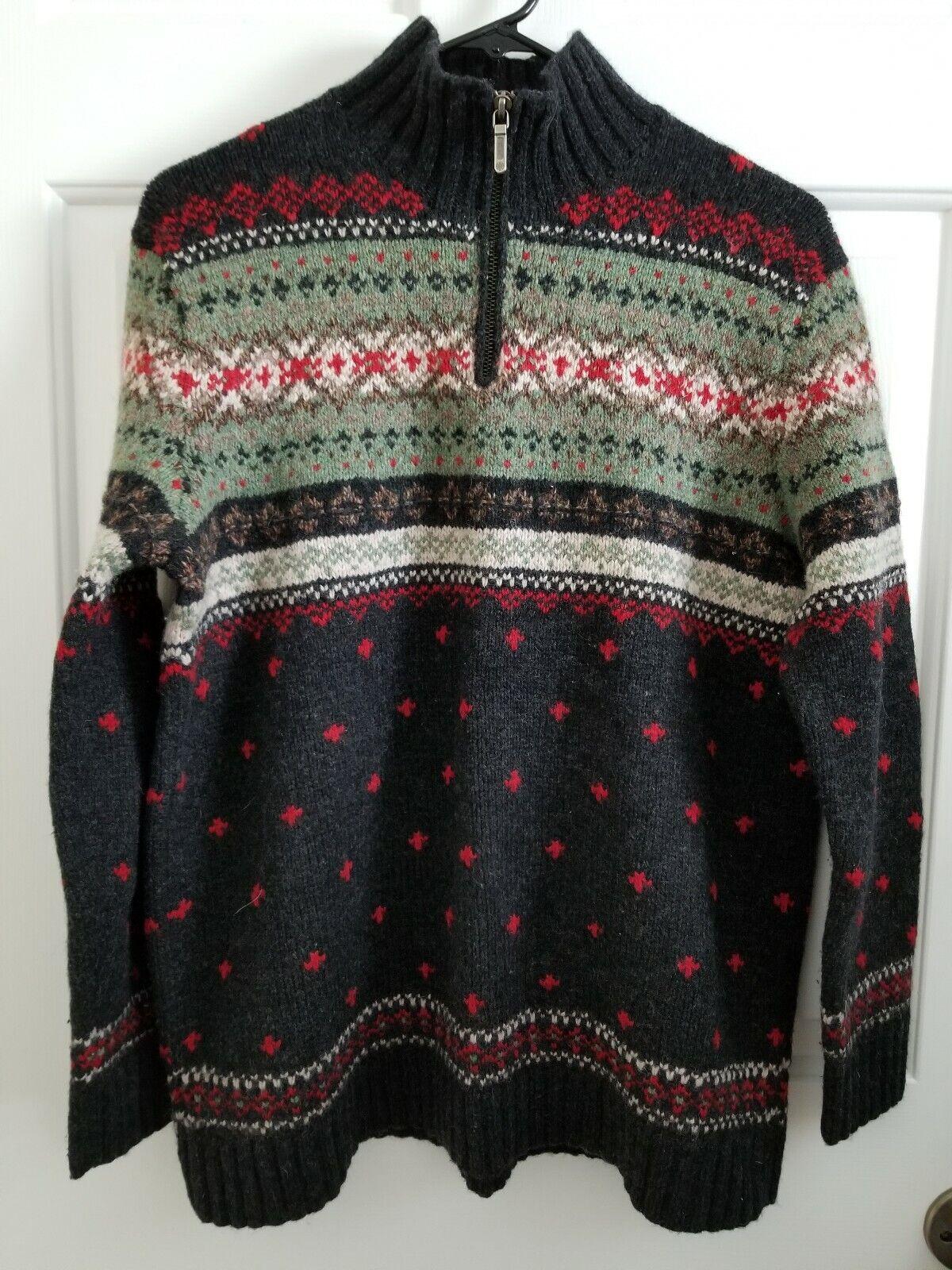 Hand Knit Lauren Ralph Lauren Womens Lambswool Wool 1 4 Zip Sweater Petite M