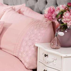 Everdean-Floral-Set-Housse-de-Couette-Double-Brode-Fard-Rose