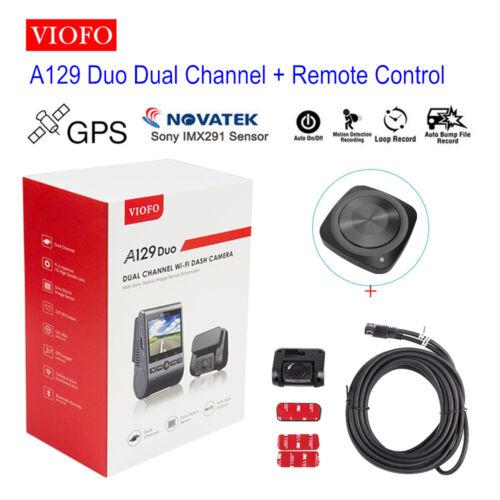 Remote Sony Sensor Night Vision Viofo A129 Duo HD 1080P PIP Dual Lens Dash Cam