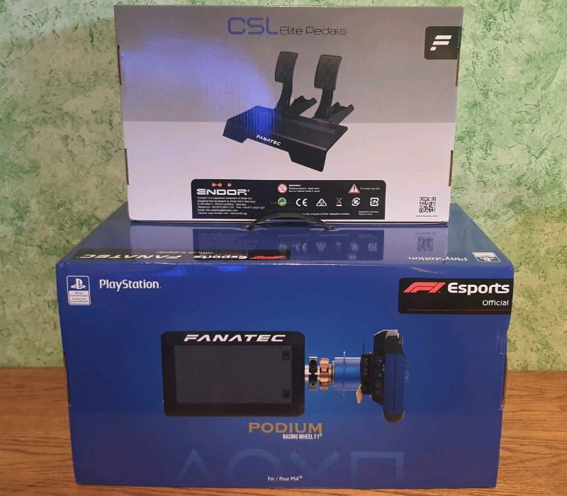 Fanatec Podium F1 set for PlayStation 4 and 5