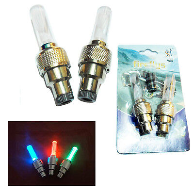 2* LED Wheel Light Bulbs Bicycle Car Cycle Bike Auto Colour Changing Valve Tire