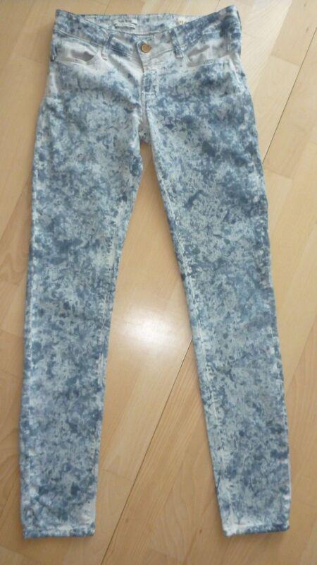 Tolle Skinny Jeans Von Rich&royal Graublau Gemustert - Gr. 27 Länge 32