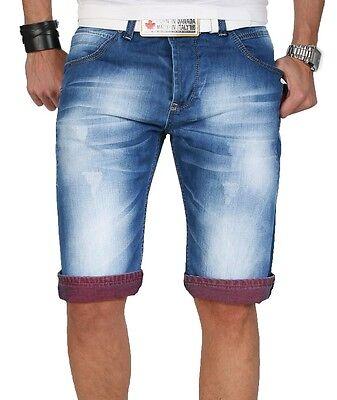 Rock Creek Herren Shorts Bermuda kurze Jeans Hose BLAU Capri W29-W40 RC-2054 NEU