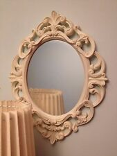 NEW SHABBY CHIC ORNATE FRENCH OVAL WALL MIRROR HALL WAY BATHROOM MIRROR SMALL