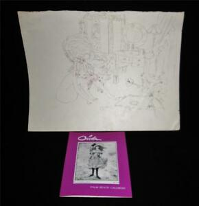 Signed-Pen-amp-Ink-Sketch-Drawings-by-Ouida-George-Listed-Palm-Beach-FL-Artist-2