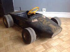 Rare Voiture A Pedale Pedales Car Lotus Mg Ecurie Anjou Formule 1 Noir Or
