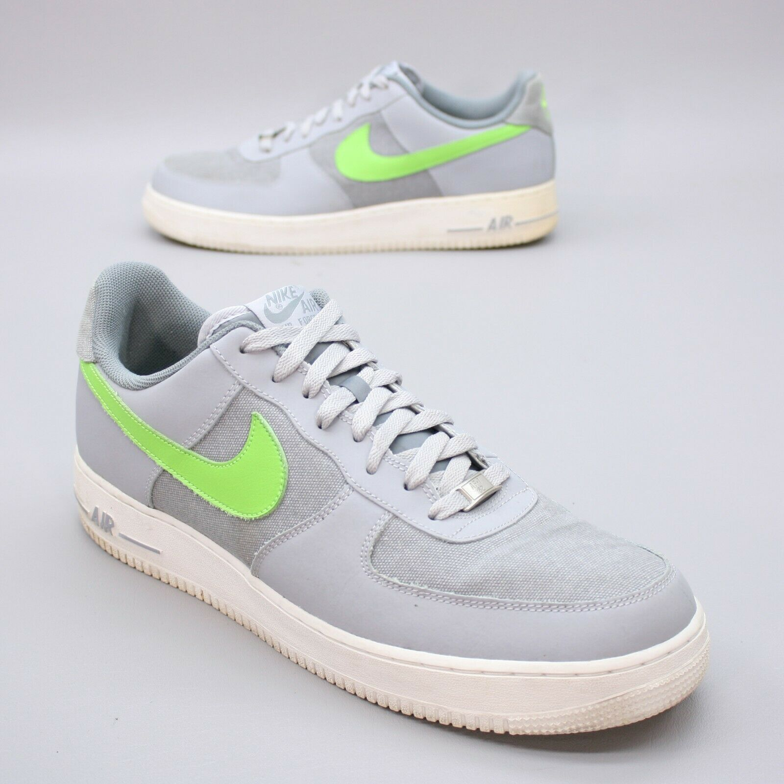 NIKE Men's 14 AIR FORCE 1 AF-1 Wolf Grey Low Basketball Sneakers - NO INSOLES