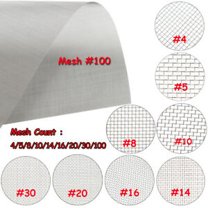 """Stainless Steel 304 Mesh #20 .016 Wire Cloth Screen 6/""""x18/"""""""
