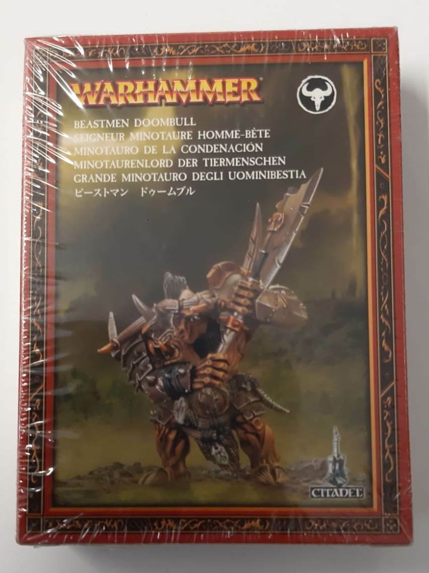 Warhammer  BeastHommes Doombull 81-13 Citadel FACTORY SEALED Games Workshop OOP  contre authentique