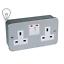 PREMIUM-Metal-Clad-1-Gang-2-Gang-Single-Double-Switched-Socket thumbnail 1