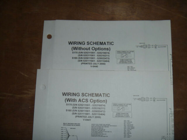 Bobcat S175 S185 Skid Steer Electrical Wiring Diagram Schematic Manual 525211001