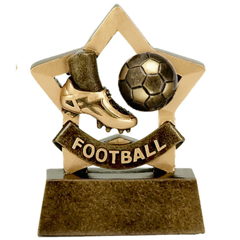 10 x Football  Mini Stars Prize Award Trophy FREE ENGRAVING Player of the Week