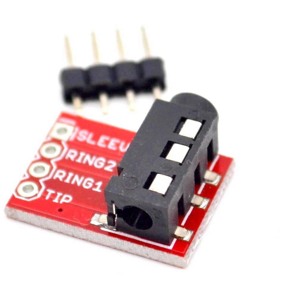 1pcs CJMCU-TRRS 3.5 mm casque stéréo MP3 Audio Vidéo Microphone Module