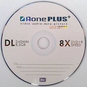 10 x aone gold edition dual layer dvd r dl 8x 8 5gb disc. Black Bedroom Furniture Sets. Home Design Ideas