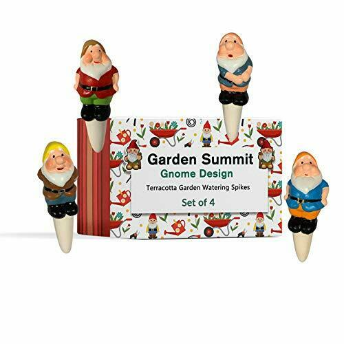 Gnome Plant Watering Stakes - Self Irrigation System - Set of 4 - Vacation Plant