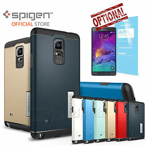 the best attitude 74446 996a8 Details about Galaxy Note 4 Case, Genuine SPIGEN Slim Armor Cover  KICK-STAND Unpackaged