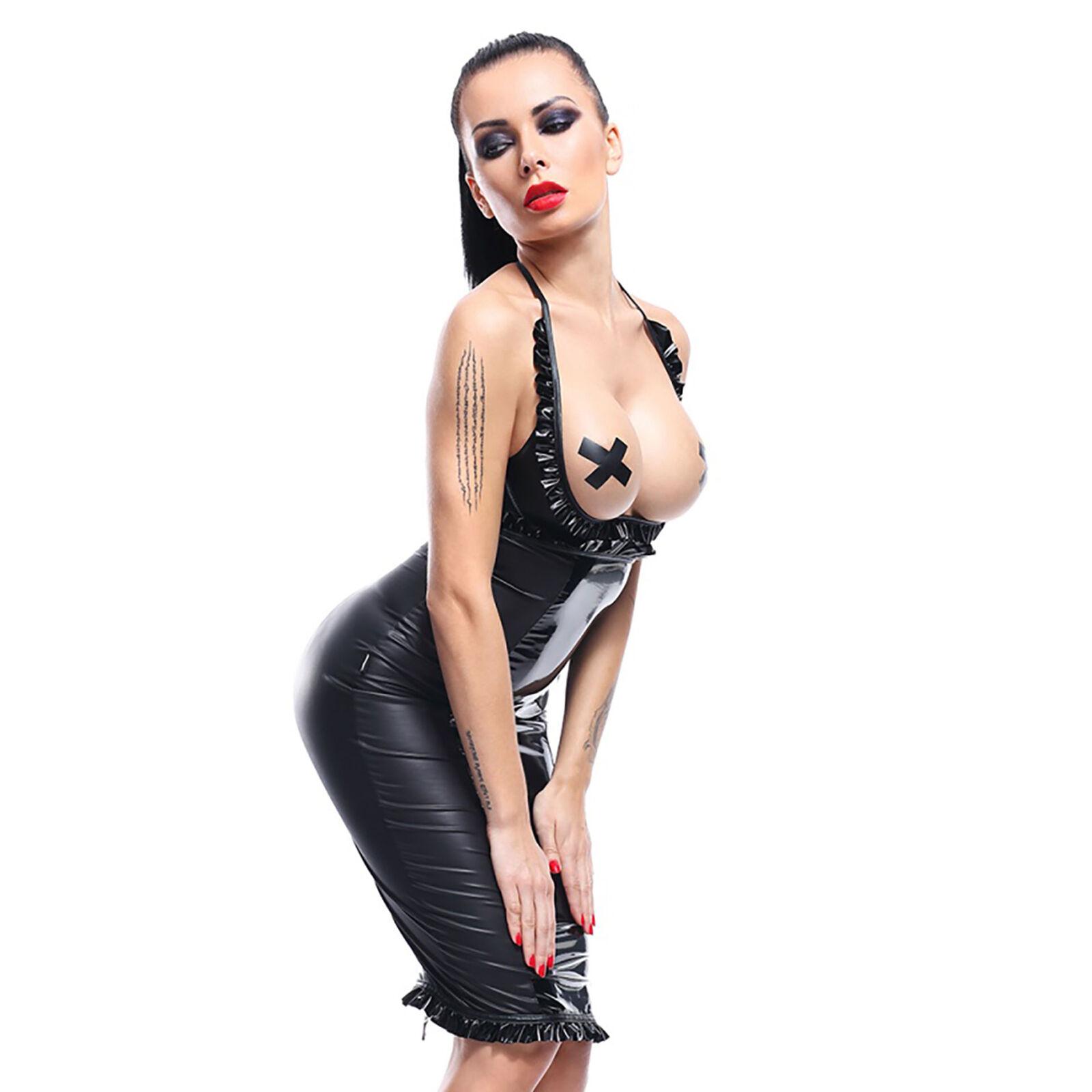Tenues Clubwear Jupe et Soucravaten-Gorge DANIKA Noir Taille L - DEMONIQ