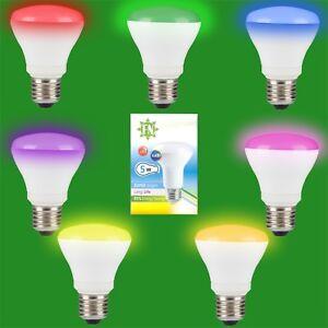 8x-5w-LED-R63-de-Color-Reflector-Disco-Bombilla-Foco-ES-E27-Lampara-Rosca
