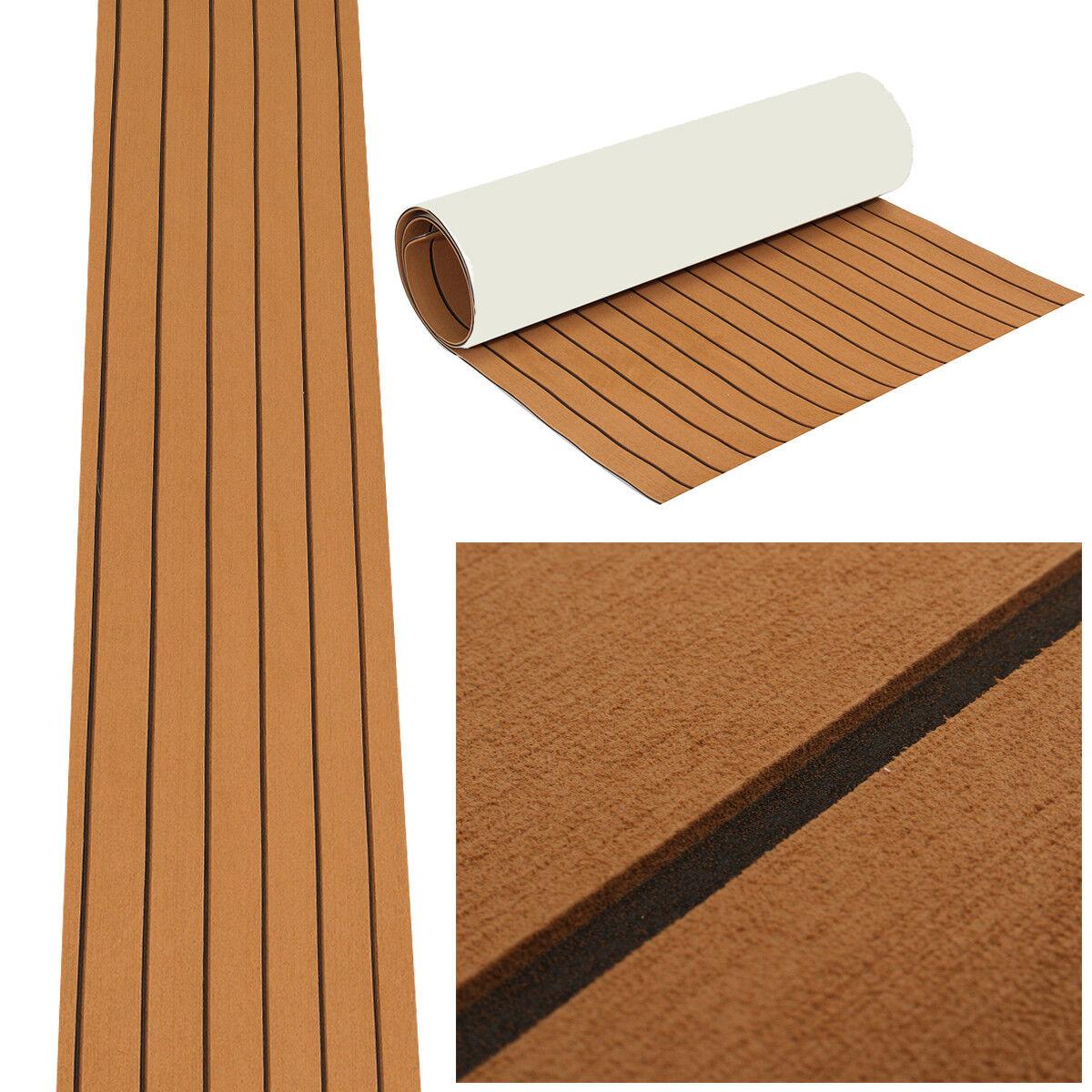 DE EVA Teak Bodenbelag 890x2300x6mm Fußboden Selbstklebend Platte für Yacht Stiefel