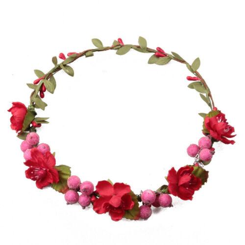 Girl Boho Flower Crown Fruit Hair band Bride Festival Party Wedding Headband
