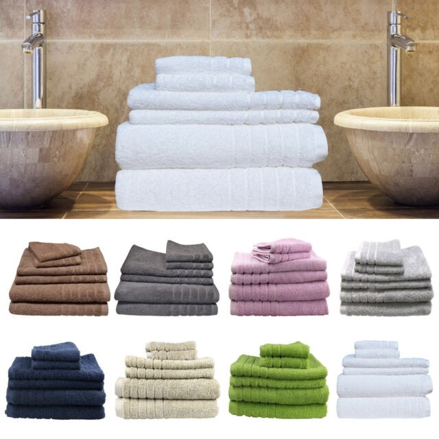 Egyptian Cotton Towel Sets 620GSM Bath Hand Towel Sheet Face Washer Mat Glove
