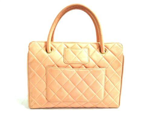 Auth CHANEL Matelasse Pink Lambskin Handbag