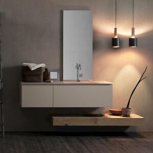 Dettagli su Ink NK14 – Mobile luxury arredo bagno L 195 x P 51 cm  personalizzabile COMPAB