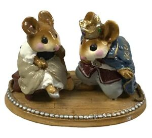 Wee Forest Folk C-1 Cinderella's Slipper & Prince Charming  Rare Collectible