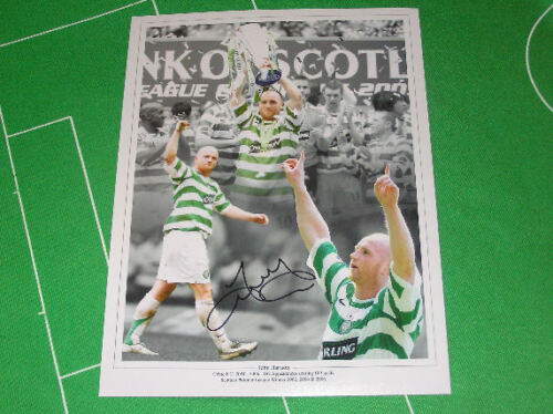 Glasgow Celtic Legend John Hartson Signed Montage