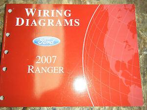 2007 FORD RANGER TRUCK ORIGINAL FACTORY WIRING DIAGRAMS ...