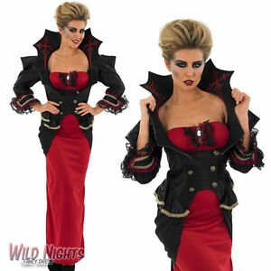 Halloween-Ladies-Deluxe-Vampiress-Fancy-Dress-Costume-Size-8-30